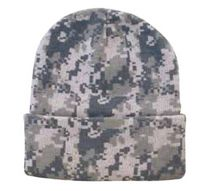 Digital Pixel Camo Knit Cap (Blank)