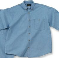 Short Sleeve 6.5 Oz. Washed Denim Shirt
