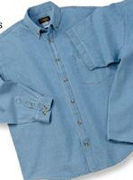 Long Sleeve 6.5 Oz. Washed Denim Shirt