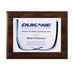 Custom Certificate/Overlay Walnut Finish Plaque for 7