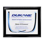 Custom Certificate/Overlay Ebony Finish Plaque for 8 1/2