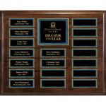 Custom Genuine Walnut 18-Plt Magnetic Pearl or Blue Border Plaque with Easy Perpetual Plt Release Program