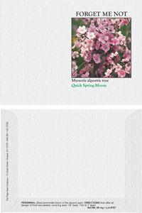 Impression Series Pink Forget Me Not Seeds - Digital Print/ Front & Back Imprint