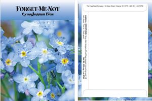 Standard Series Forget Me Not Seed Packet - Digital Print/Packet Back Imprint