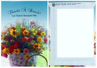 Thanks A Bunch!-Theme Series Cut Flower Mix seed packets - Digital Print/ Back Packet Imprint