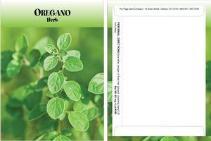 Standard Series Oregano Seed Packet - Digital Print /Packet Back Imprint