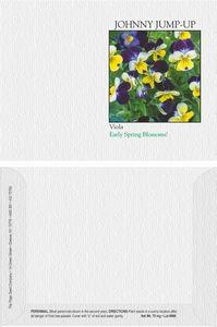 Impression Series Johnny Jump Up Flower Seeds - Digital Print/ Imprint Front & Back
