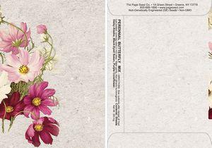Watercolor Series Butterfly Seed Packet - Digital Print/Packet Back Imprint