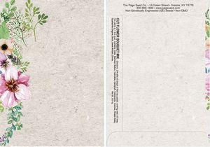 Watercolor Series Cut Flower Bouquet Mix Seeds - Digital Print/ Front & Back Imprint