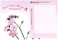 Theme Series Breast Cancer Awareness Pink Forget Me Not Flower Seeds - Digital Print/ Back Imprint