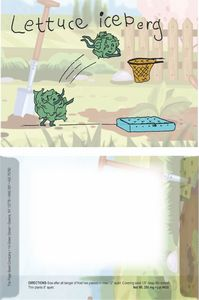 Dorothy's Kids Series Lettuce Seeds/ Cartoon Character Packet- Digital Print- Back Imprint