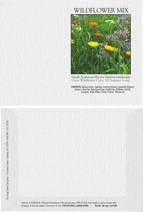 Impression Series Wildflower Mix Flower Seeds - Digital Print/ Front & Back Imprint