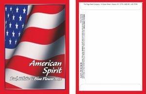American Spirit Series Flower Mix - Flag- Digital Print/ Front & Back Imprint