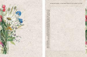 Watercolor Series Wildflower Mix Seed Packet - Digital Print /Packet Back Imprint