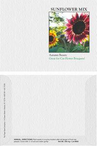 Impression Series Sunflower Autumn Beauty Flower Seeds - Digital Print/ Front & Back Imprint
