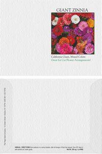 Impression Series Zinnia, California Giant Flower Seeds - Digital Print/ Front & Back Imprint