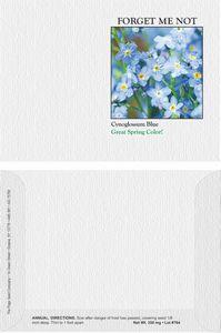 Impression Series Forget Me Not Blue Flower Seeds - Digital Print/ Front & Back Imprint