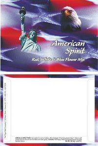 American Spirit Series Flower Mix - Statue of Liberty/ Eagle- Digital Print/Back Imprint