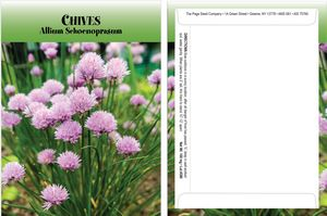 Standard Series Chives Seed Packet - Digital Print /Packet Back Imprint