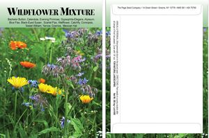 Standard Series Wildflower Mix Seed Packet - Digital Print /Packet Back Imprint
