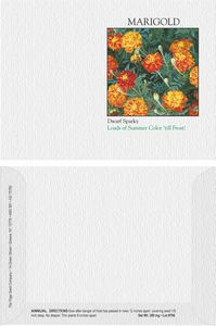 Impression Series Marigold Flower Seeds - Digital Print/ Front & Back Imprint