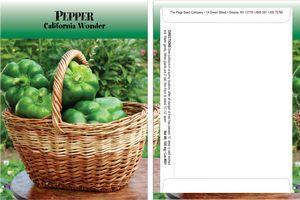 Standard Series Pepper Seed Packet - Digital Print/Packet Back Imprint