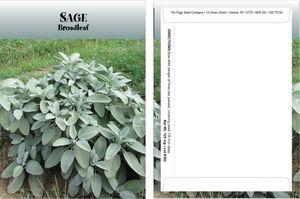 Standard Series Sage Seed Packet - Digital Print /Packet Back Imprint