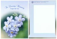In Loving Memory-Theme Series Forget Me Not Seeds - Digital Print/ Imprint Back
