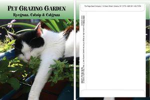 Standard Series Pet Grazing Garden Seed Packet - Digital Print /Packet Back Imprint