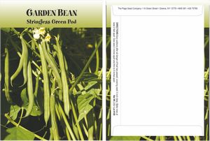 Standard Series Bean Seed Packet - Digital Print /Packet Back Imprint