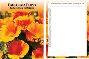 Standard Series California Poppy Seed Packet - Digital Print /Packet Back Imprint