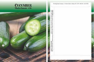 Standard Series Cucumber Seed Packet - Digital Print/Packet Back Imprint