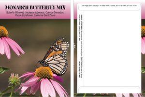 Standard Series Monarch Butterfly Garden Mix - digital print- back