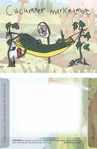 Dorothy's Kids Series Cucumber Seeds/ Cartoon Character Packet- Digital Print- back imprint