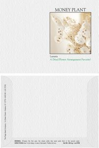 Impression Series Lunaria Flower Seeds - Digital Print/ Imprint Front & Back