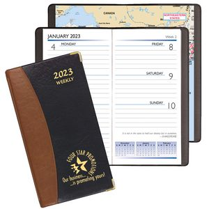 Carriage Weekly Pocket Planner w/ Brass Corners