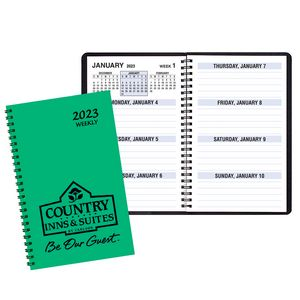 Large Print Weekly Desk Planners w/ TechnoColor Cover