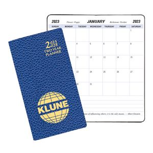 Two Year Pocket Planner w/ Cobblestone Cover