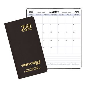 Two Year Pocket Planner w/ Leatherette Cover