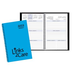 Weekly Desk Appointment Planner w/ Technocolor Cover