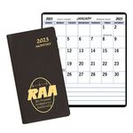 Custom Large Print Monthly Pocket Planner w/ Continental Cover