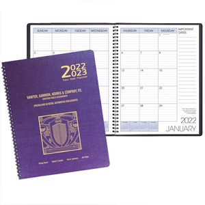 Two Year Monthly Desk Planner w/ Illusion Cover