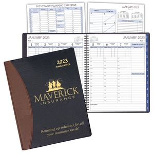 Time Management Planner w/ Carriage Vinyl Cover