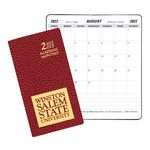 Custom Academic Monthly Pocket Planner w/ Cobblestone Cover