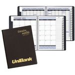 Custom Executive Monthly Planner w/ Continental Vinyl Cover