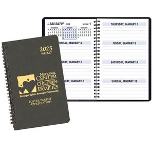 Large Print Weekly Desk Planner w/ Canyon Cover