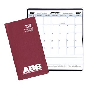 Two Year Pocket Planner w/ Continental Vinyl Cover