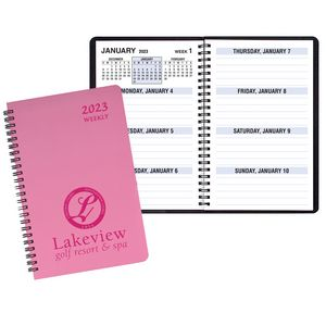 Large Print Weekly Desk Planner w/ Twilight Cover