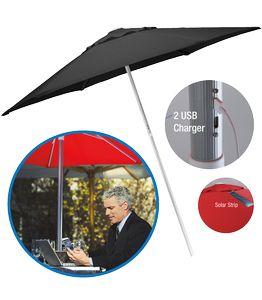 7' Solar USB Market Umbrella