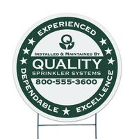 "Round Corrugated Vinyl Die Cut Yard Sign (22"")"
